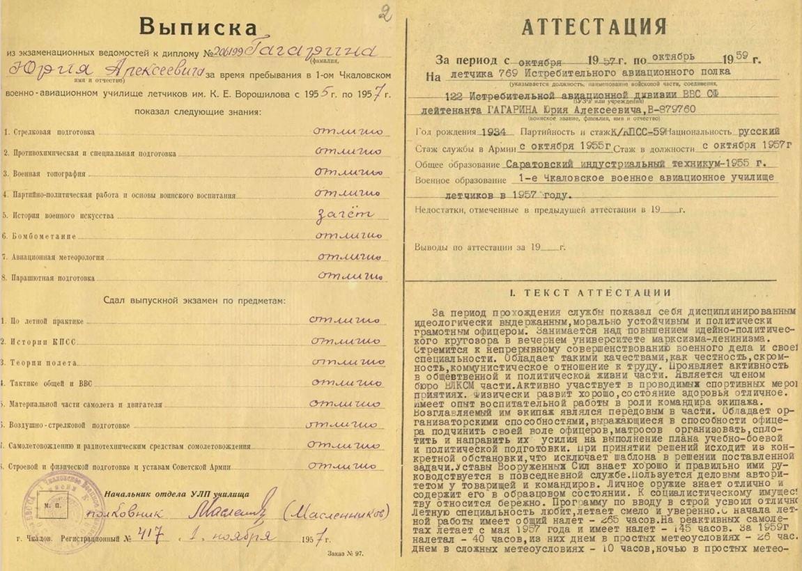 фото Минобороны рассекретило архивные документы первых космонавтов СССР 2