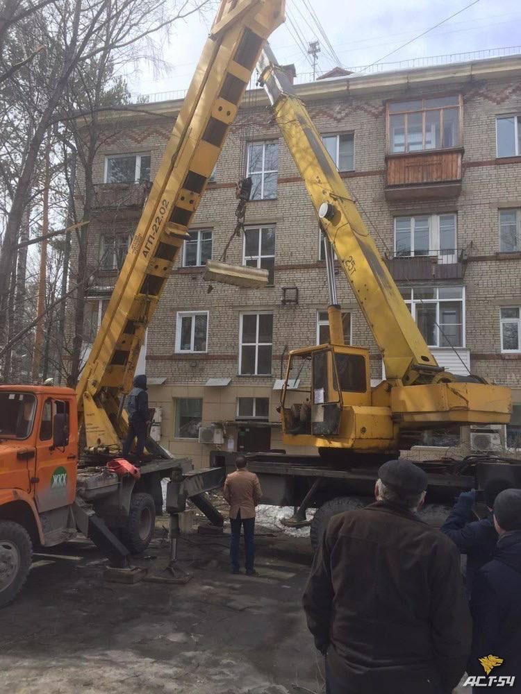 фото Часть дома демонтировали в Новосибирске из-за угрозы обрушения 3