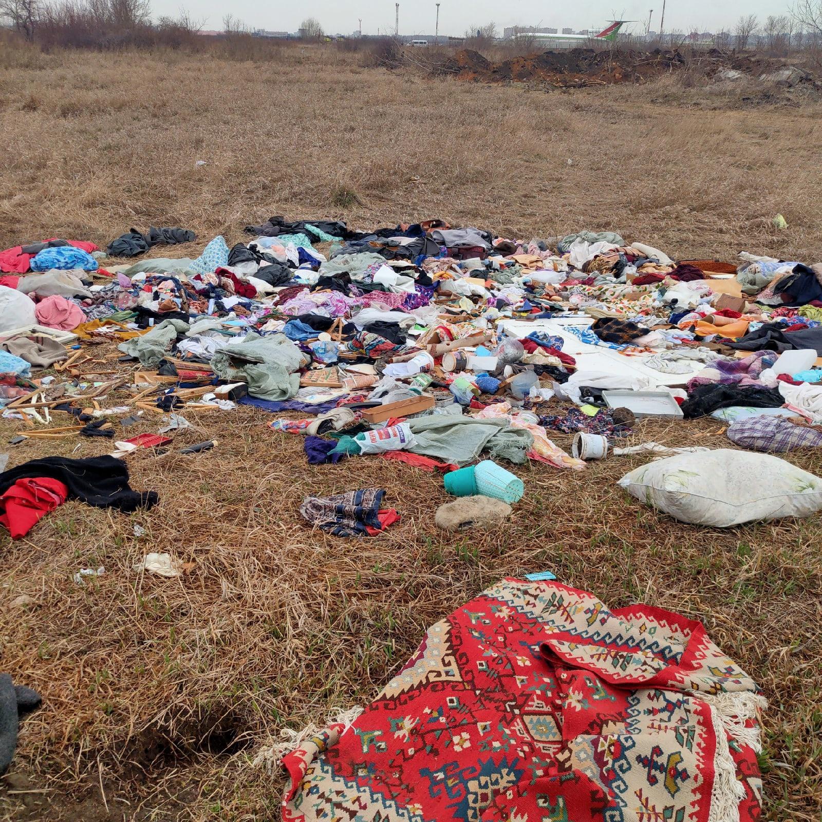 фото Возле аэропорта Омска обнаружена стихийная свалка 3