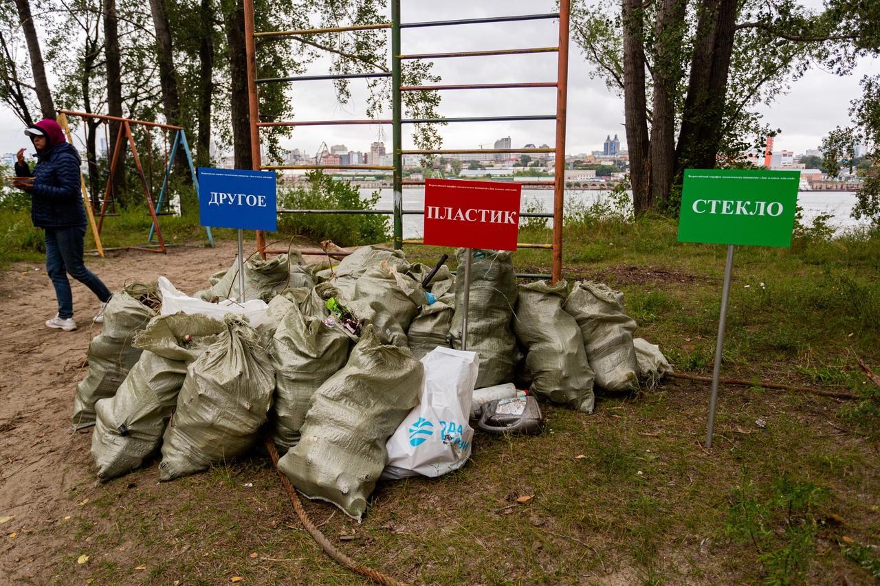 Фото В Новосибирске волонтёры собрали более 600 килограммов мусора 2