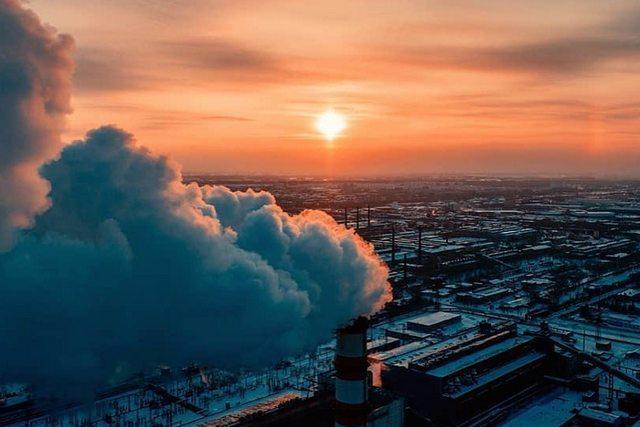 Фото Закат на морозе приковал новосибирцев к соцсетям 2