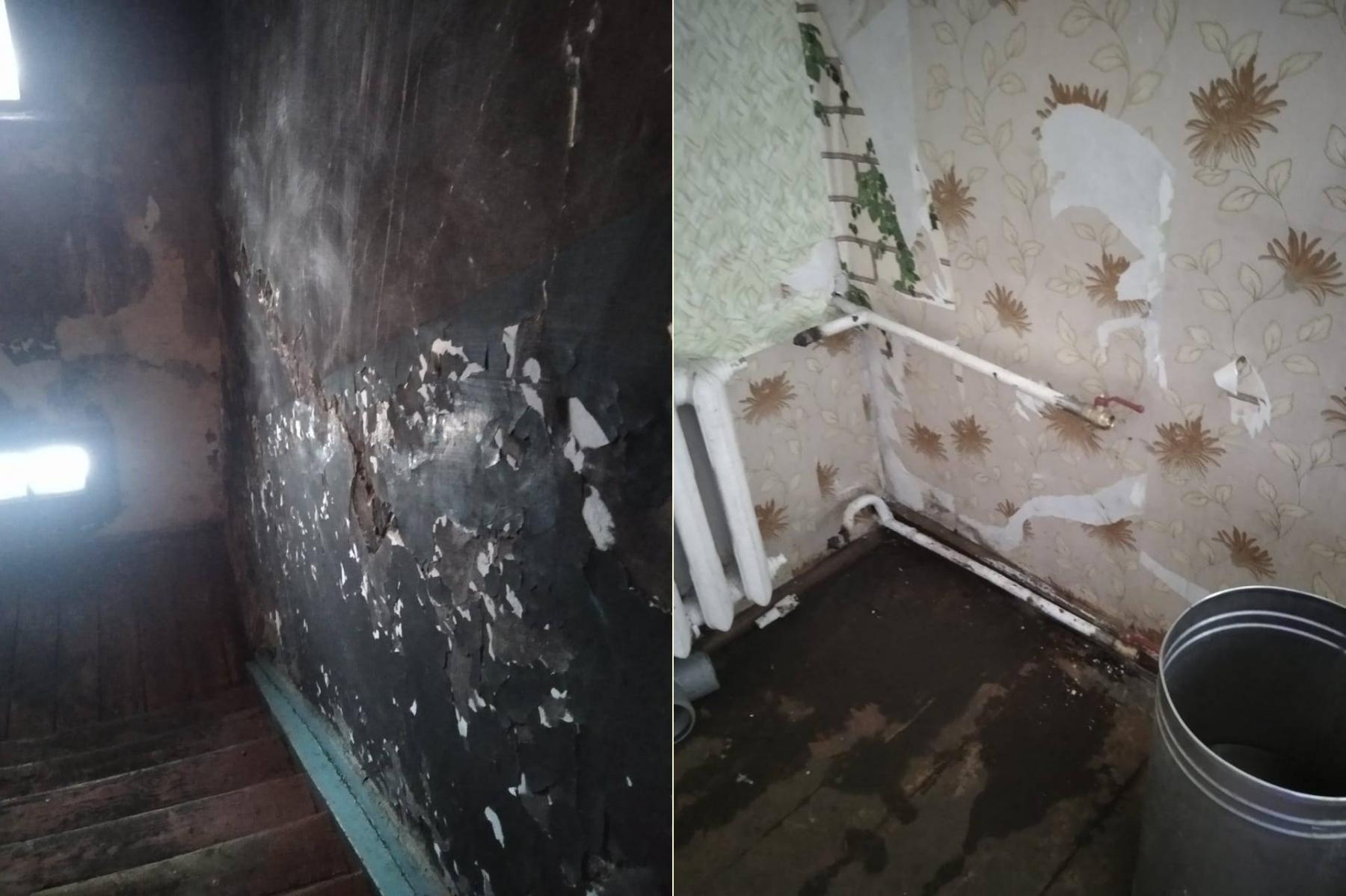 Фото «Адские трущобы 21 века»: десять жутких фото из затопленного кипятком аварийного дома в Новосибирске 4