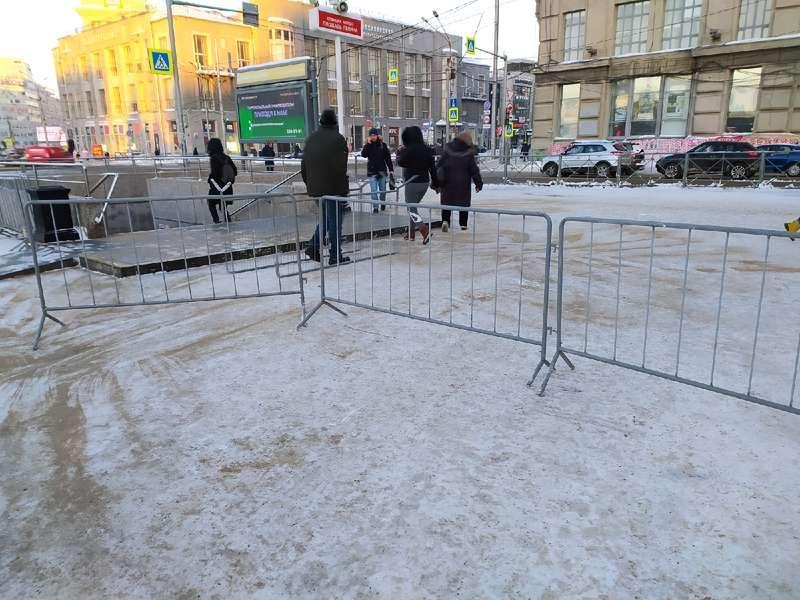 фото Оцепление выставили на центральной площади Новосибирска 2 февраля 4