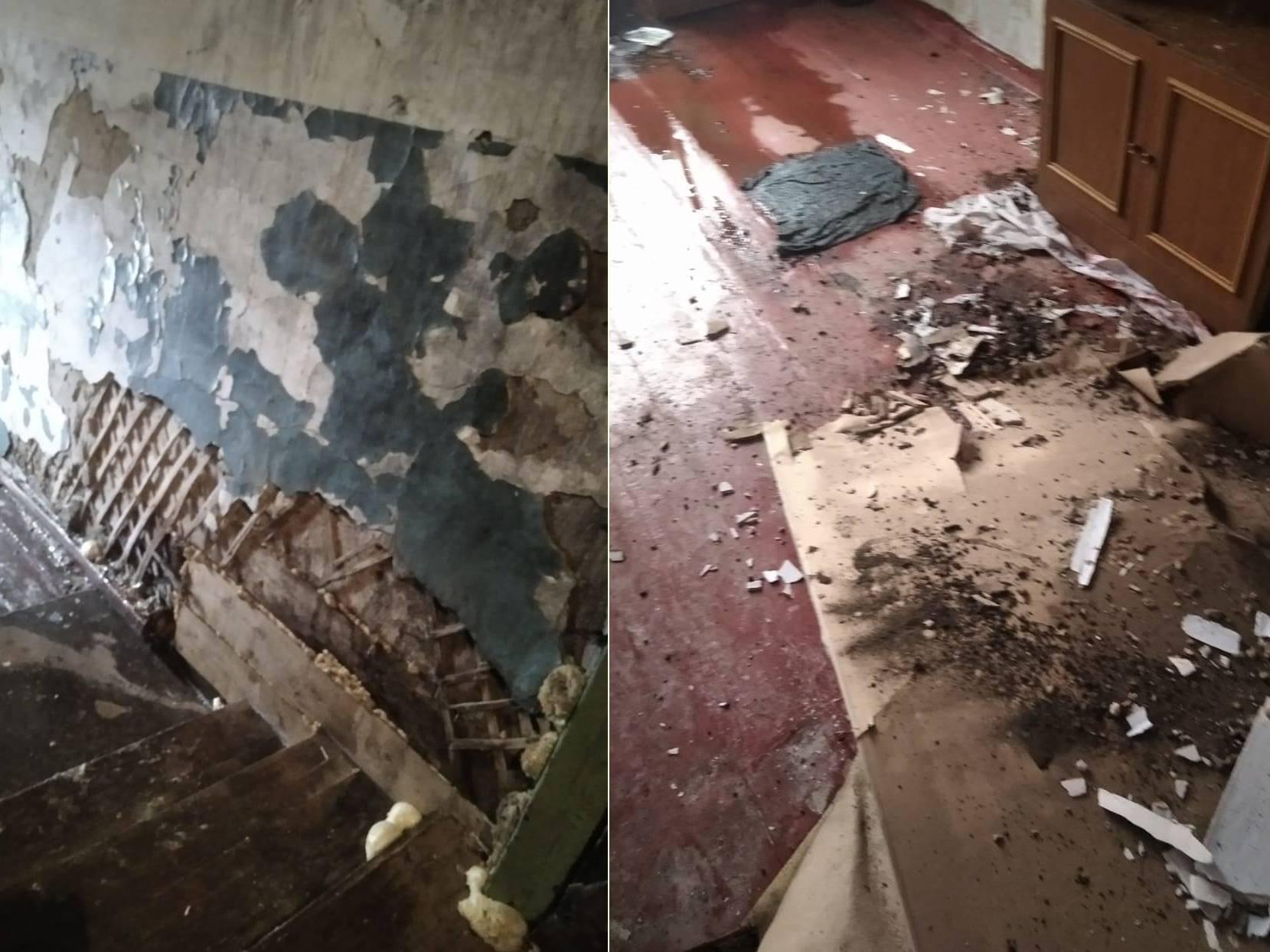 Фото «Адские трущобы 21 века»: десять жутких фото из затопленного кипятком аварийного дома в Новосибирске 9