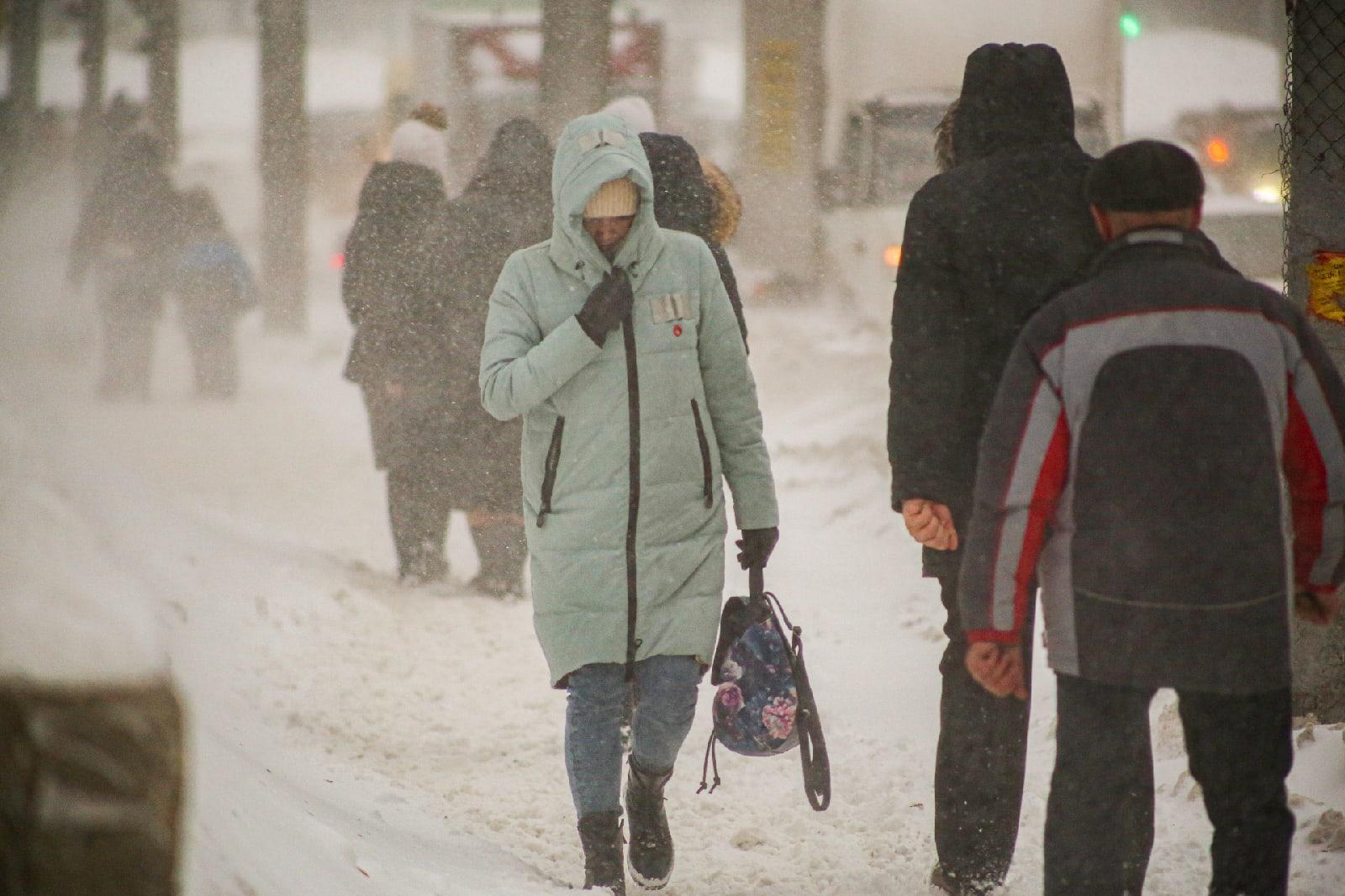 фото Новосибирск накрыла ледяная буря: 10 фото из снежного плена 7