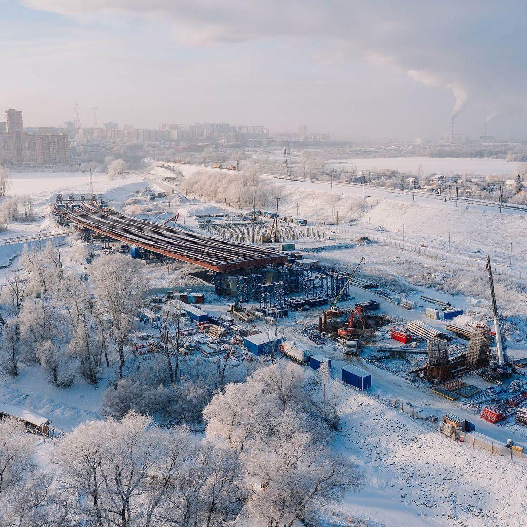 фото Новосибирский фотограф Слава Степанов показал стройку четвёртого моста с высоты 9