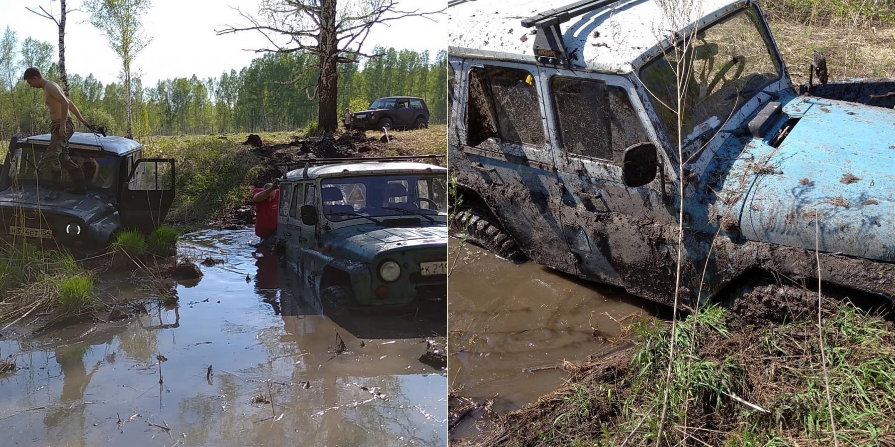 Фото Простые парни на УАЗах: зачем новосибирские экстремалы лезут в непроходимые болота и устраивают свидания с медведями 4