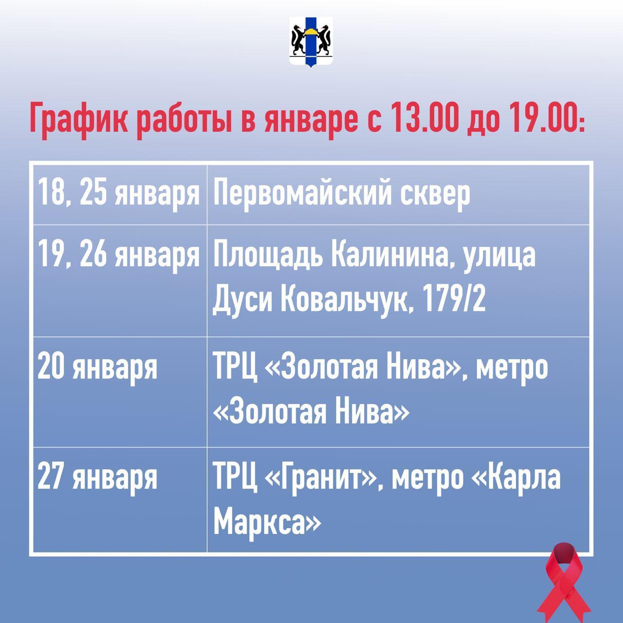 фото ВИЧ-мобиль начал работать в Новосибирске: график работы в двух картинках 2