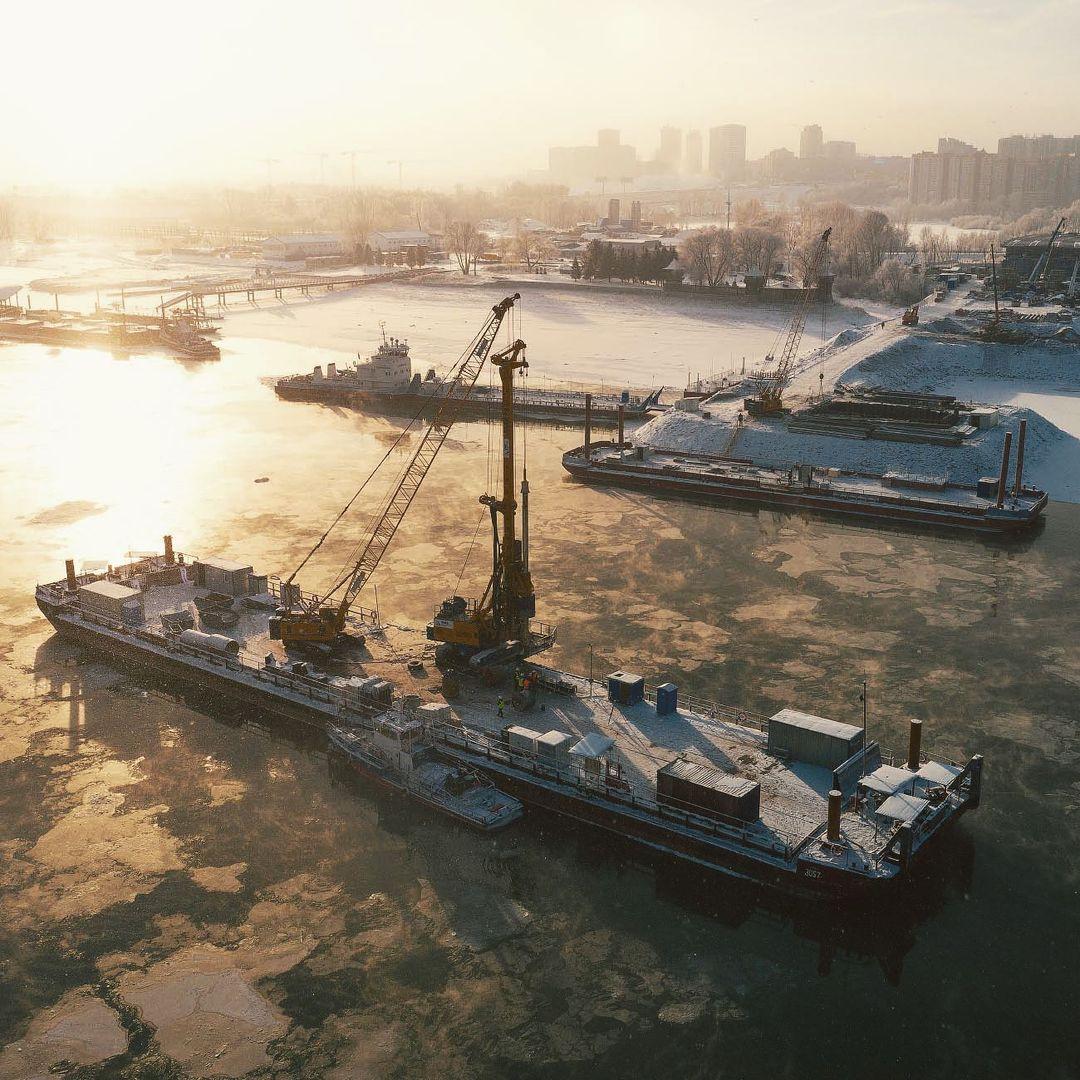 Фото Новосибирский фотограф Слава Степанов показал стройку четвёртого моста с высоты 3