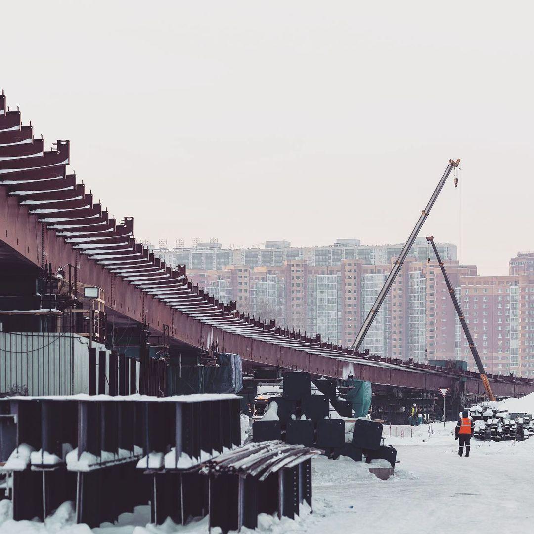 Фото Новосибирский фотограф Слава Степанов показал стройку четвёртого моста с высоты 8