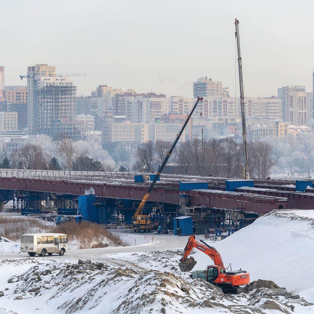фото Новосибирский фотограф Слава Степанов показал стройку четвёртого моста с высоты 2
