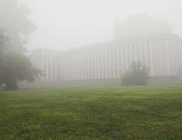 фото Мистический туман накрыл Новосибирск 4