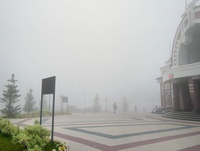 фото Мистический туман накрыл Новосибирск 3