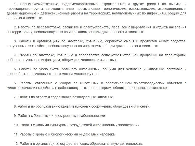 Фото Постановление № 825 Правительства РФ – кого должны отстранить от работы без прививки от ковида – список профессий 2
