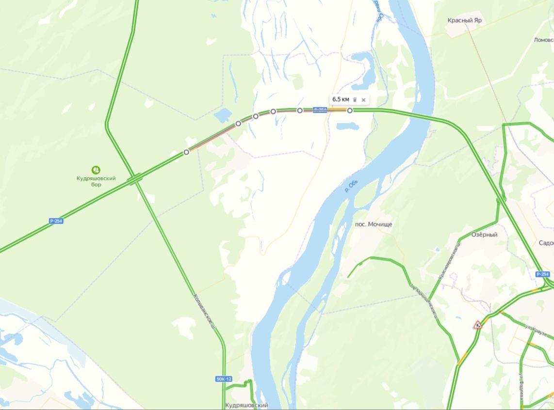 фото Пробка длиной 6,5 км образовалась на Северном объезде Новосибирска 2