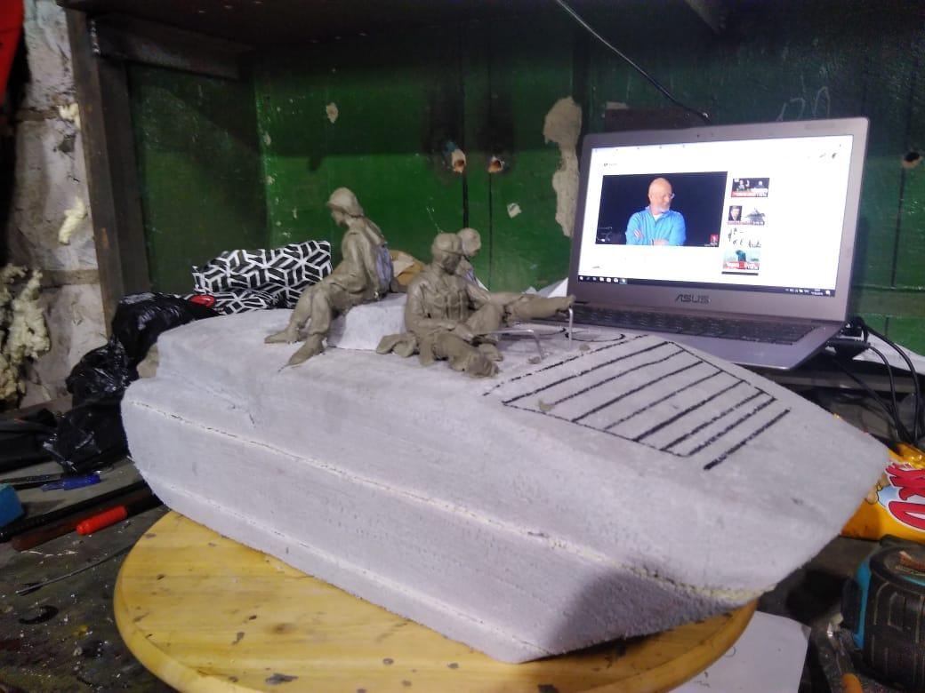 фото Забравший БМП новосибирец показал макет обновлённого памятника афганцам 2