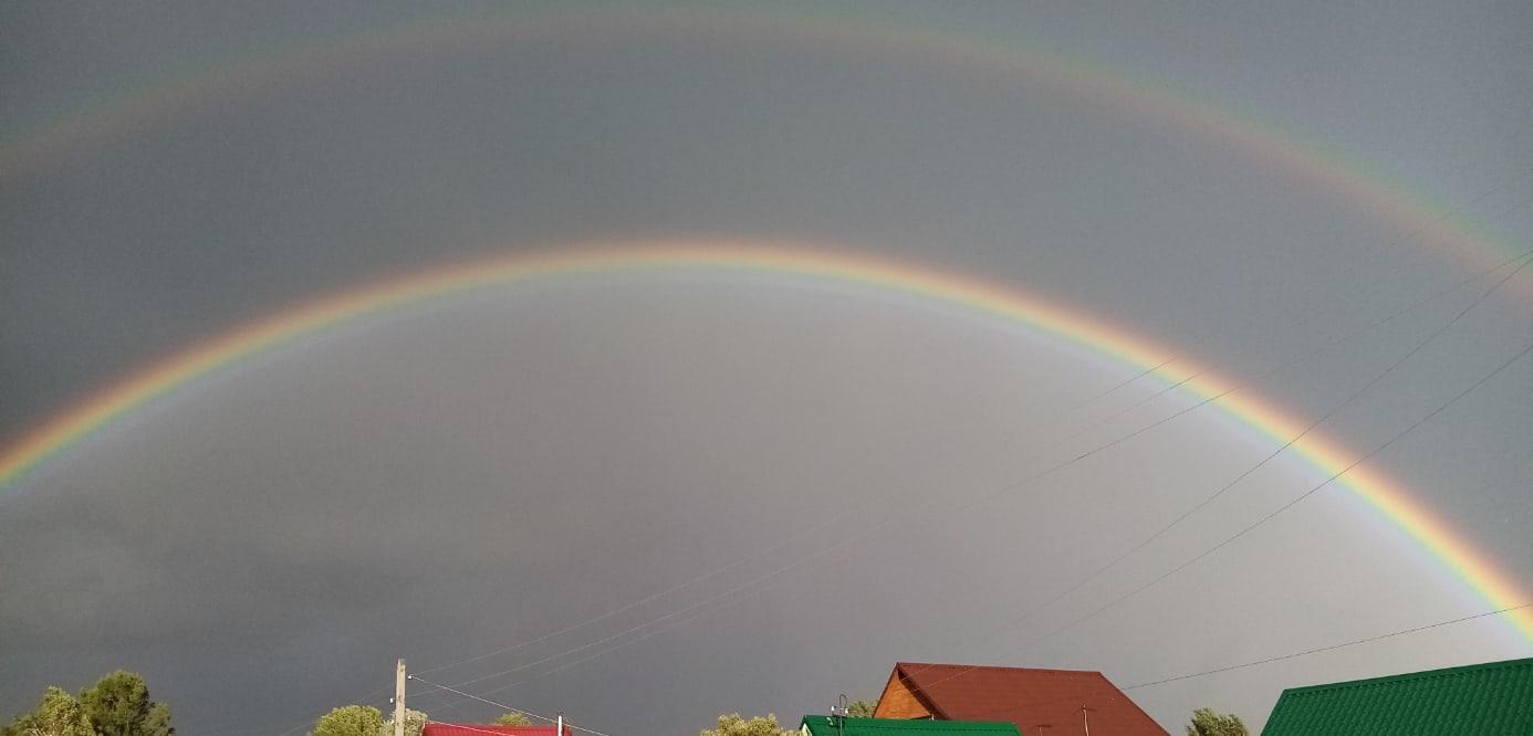 фото В Новосибирске увидели двойную радугу 6