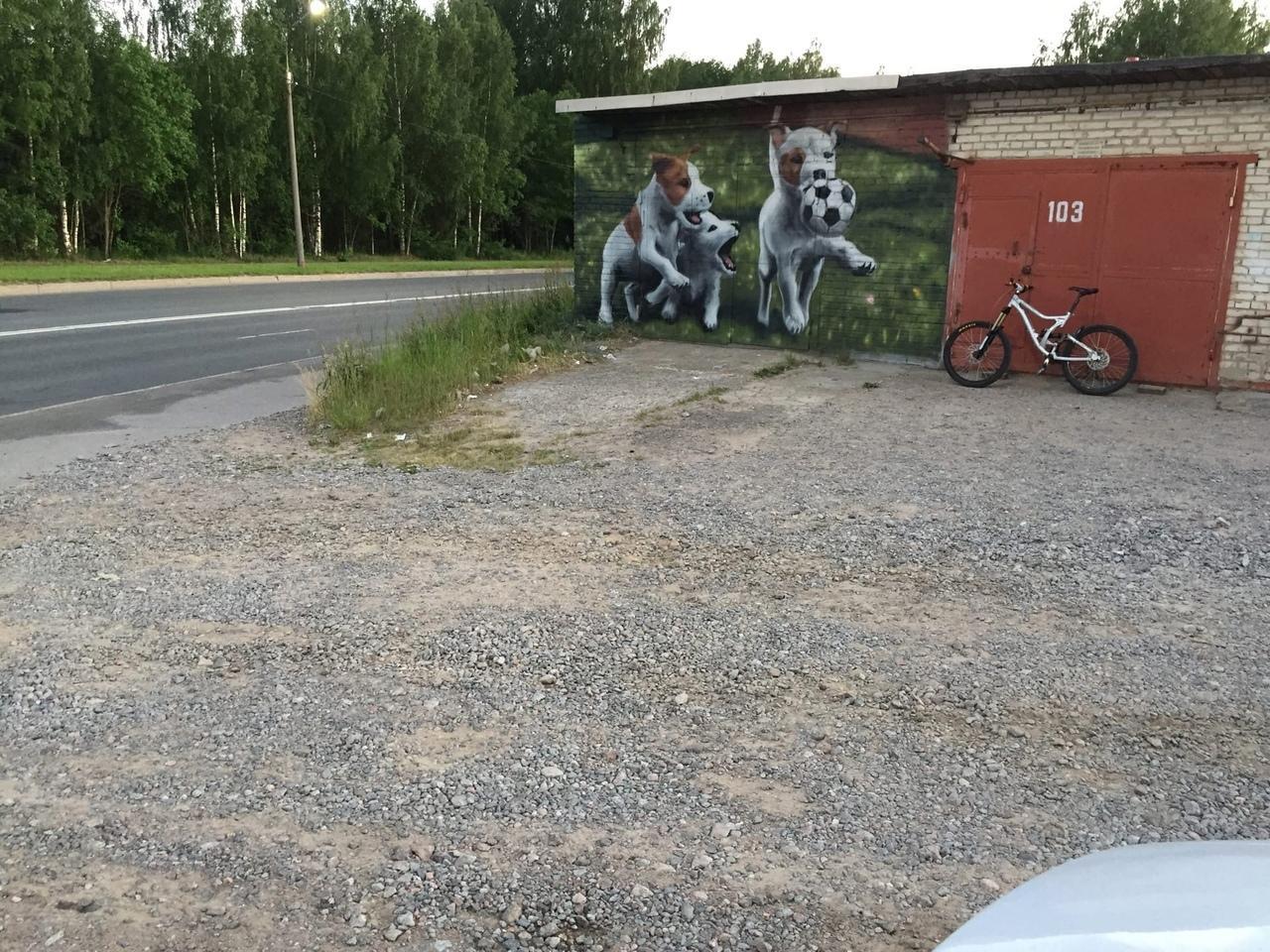 Фото В Ленинградской области появилось трогательное граффити к чемпионату Европы – 2021 2
