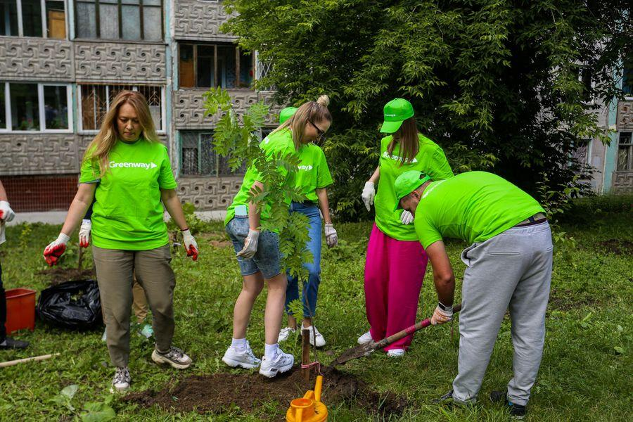 Фото Экологическая акция «Зелёный двор» пришла в Новосибирск 3