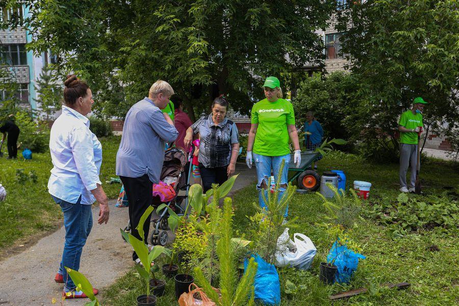 Фото Экологическая акция «Зелёный двор» пришла в Новосибирск 5