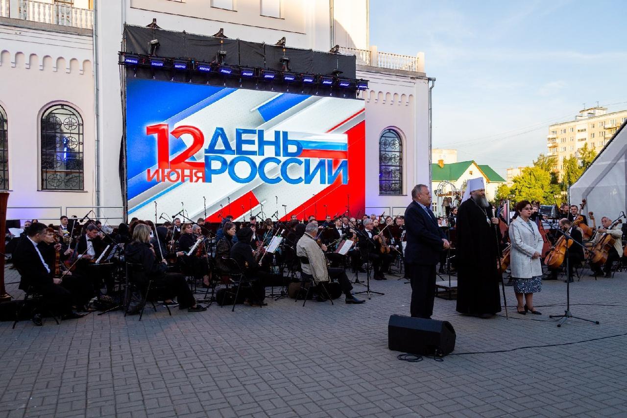 фото В День России в Новосибирске состоялось светомузыкальное шоу «Александр Невский» – видео 2