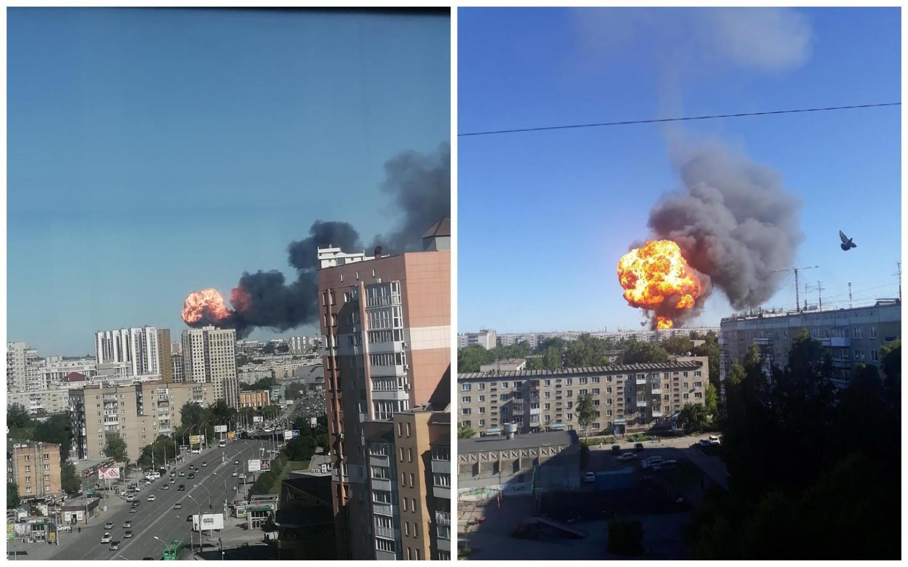 фото Пожар на АЗС в Новосибирске: текстовый онлайн на Сибфм 14