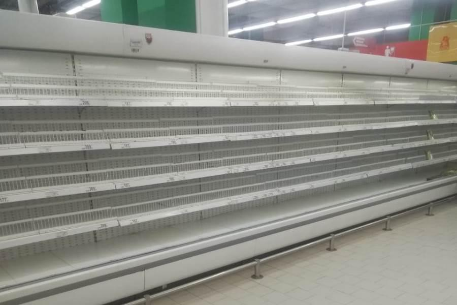 Фото Ажиотаж в магазинах Новосибирска: покупатели сметают продукты, ритейлеры и власти пытаются успокоить людей 2