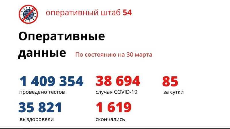 фото Количество умерших от коронавируса в Новосибирской области достигло 1 619 человек к 31 марта 2