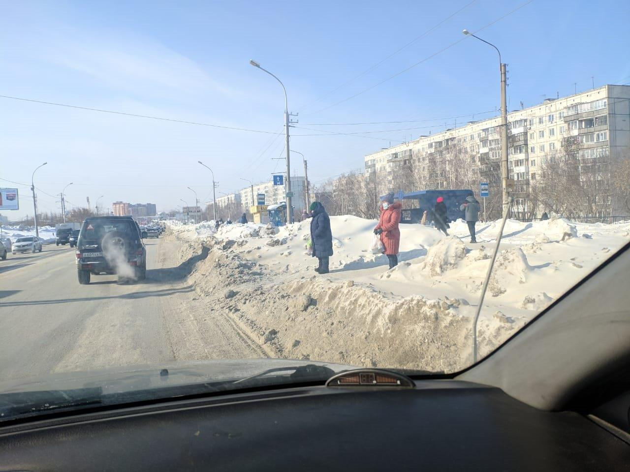 Фото «Ждут, когда растает сам»: снег не вывозят с Гусинобродского шоссе всю зиму – горожанка рассказала о борьбе с сугробами 3