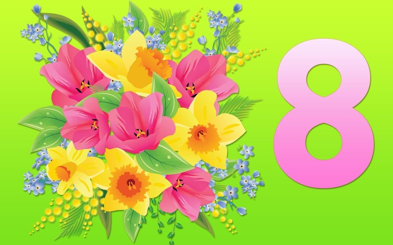 фото Пора поздравлять: прикольные открытки с 8 Марта, стихи и пожелания для женщин 3