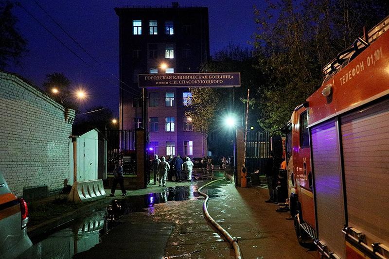 фото Пациентка с коронавирусом погибла при пожаре в московской клинике 2