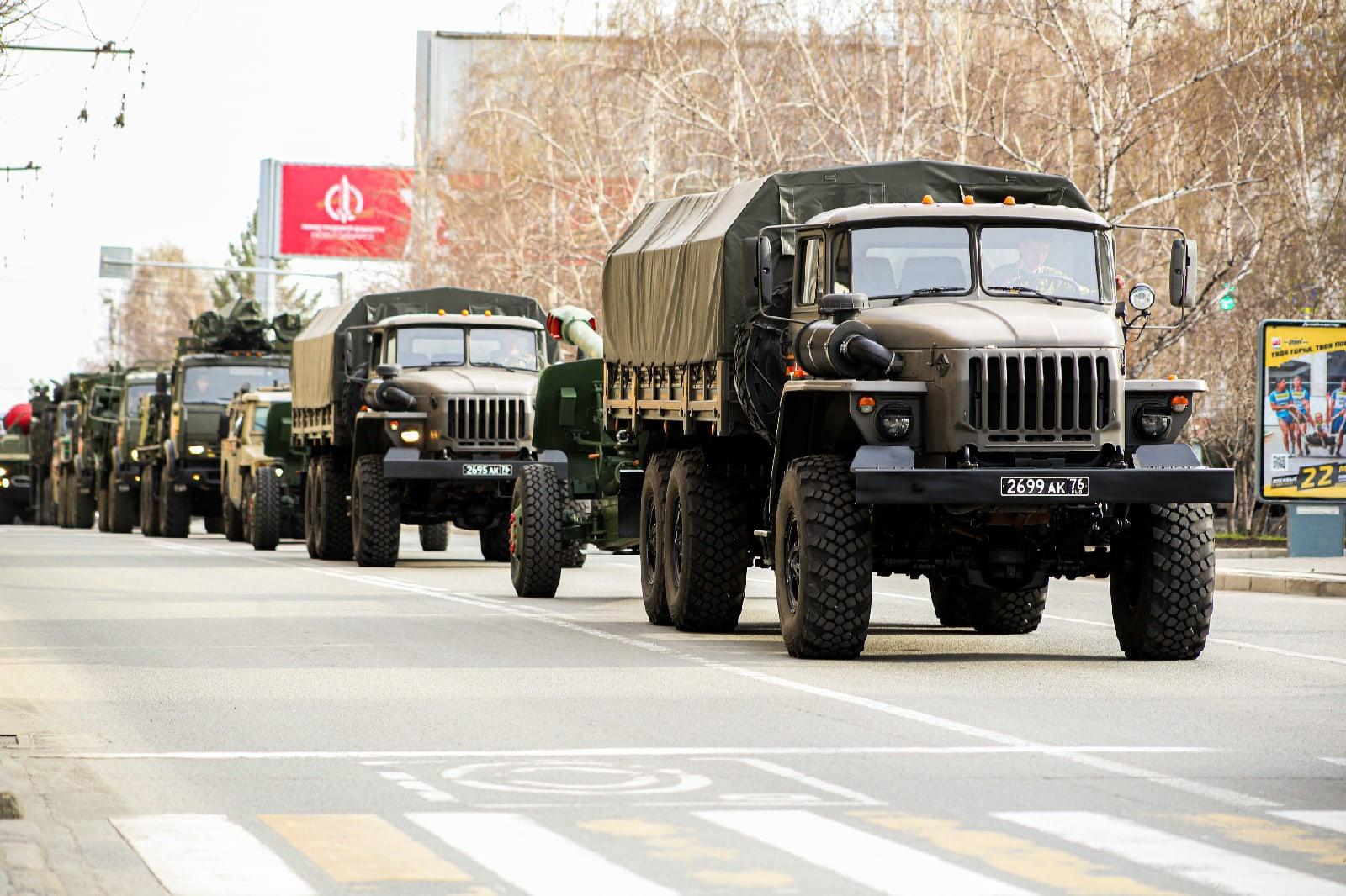 Фото Репетиция военного парада состоялась в Новосибирске 7