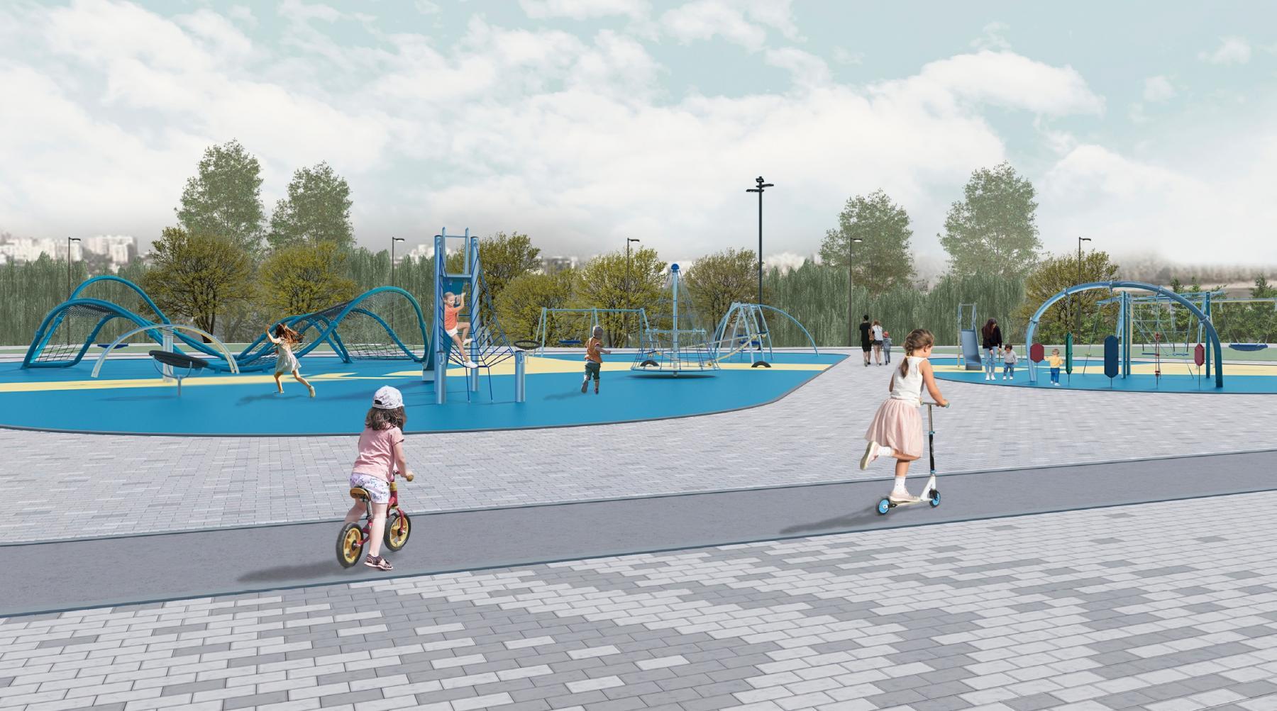 Фото Рядом с новой ледовой ареной в Новосибирске строят парк за 433 млн рублей: показываем, как он будет выглядеть 2