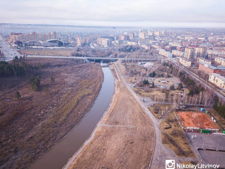 фото В Кемерове показали строительство новой набережной с высоты птичьего полёта 3