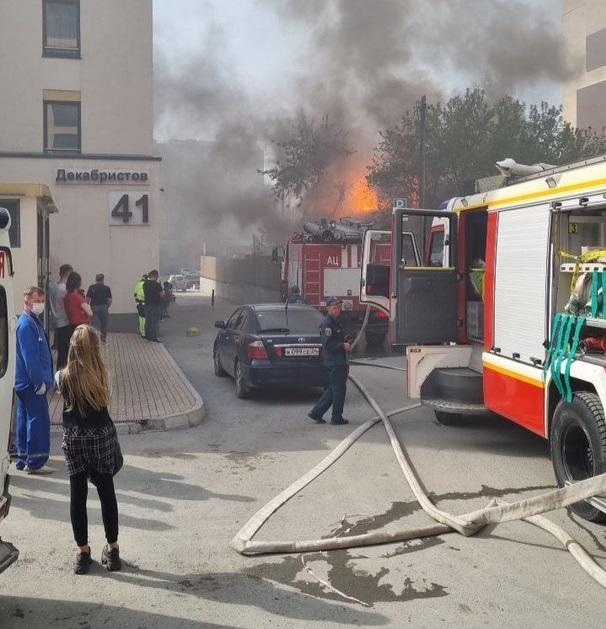 Фото В Новосибирске произошёл крупный пожар 2