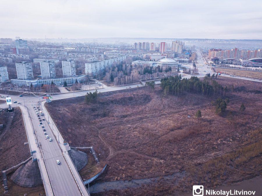 фото В Кемерове показали строительство новой набережной с высоты птичьего полёта 4
