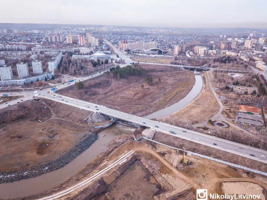 фото В Кемерове показали строительство новой набережной с высоты птичьего полёта 5