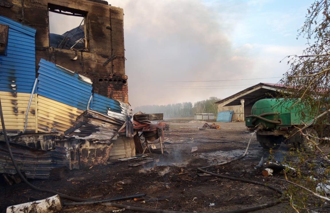 Фото Придорожное кафе на трассе Р-254 горело в Новосибирской области 3