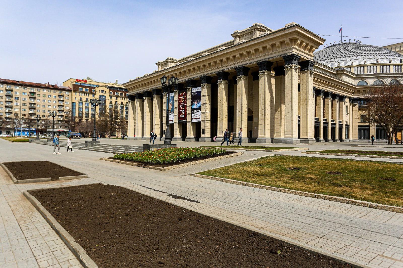 фото Первые бархатцы высадили на площади Ленина в Новосибирске 4
