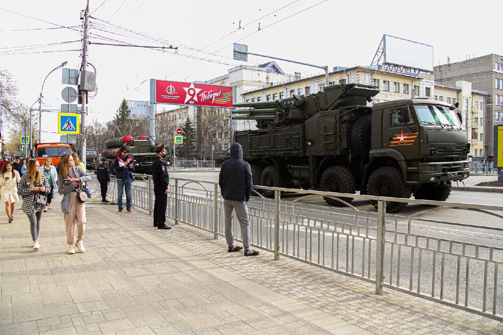 Фото Репетиция военного парада состоялась в Новосибирске 5