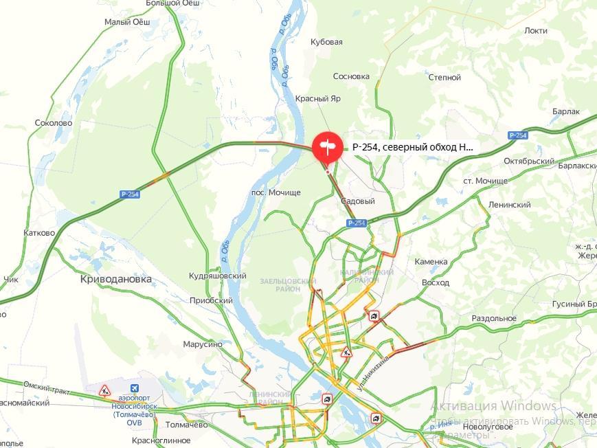 фото Горожане возмущены многокилометровой пробкой на Северном объезде Новосибирска 3