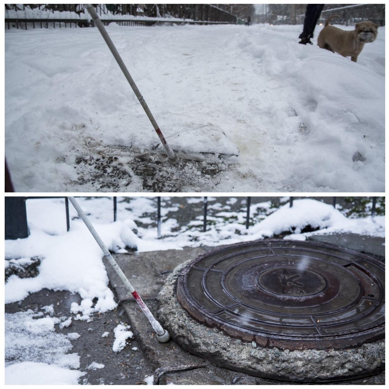 фото «Лучшая помощь – это люди»: как незрячие воюют в Новосибирске с автохамами, кривыми тротуарами и снегом 4