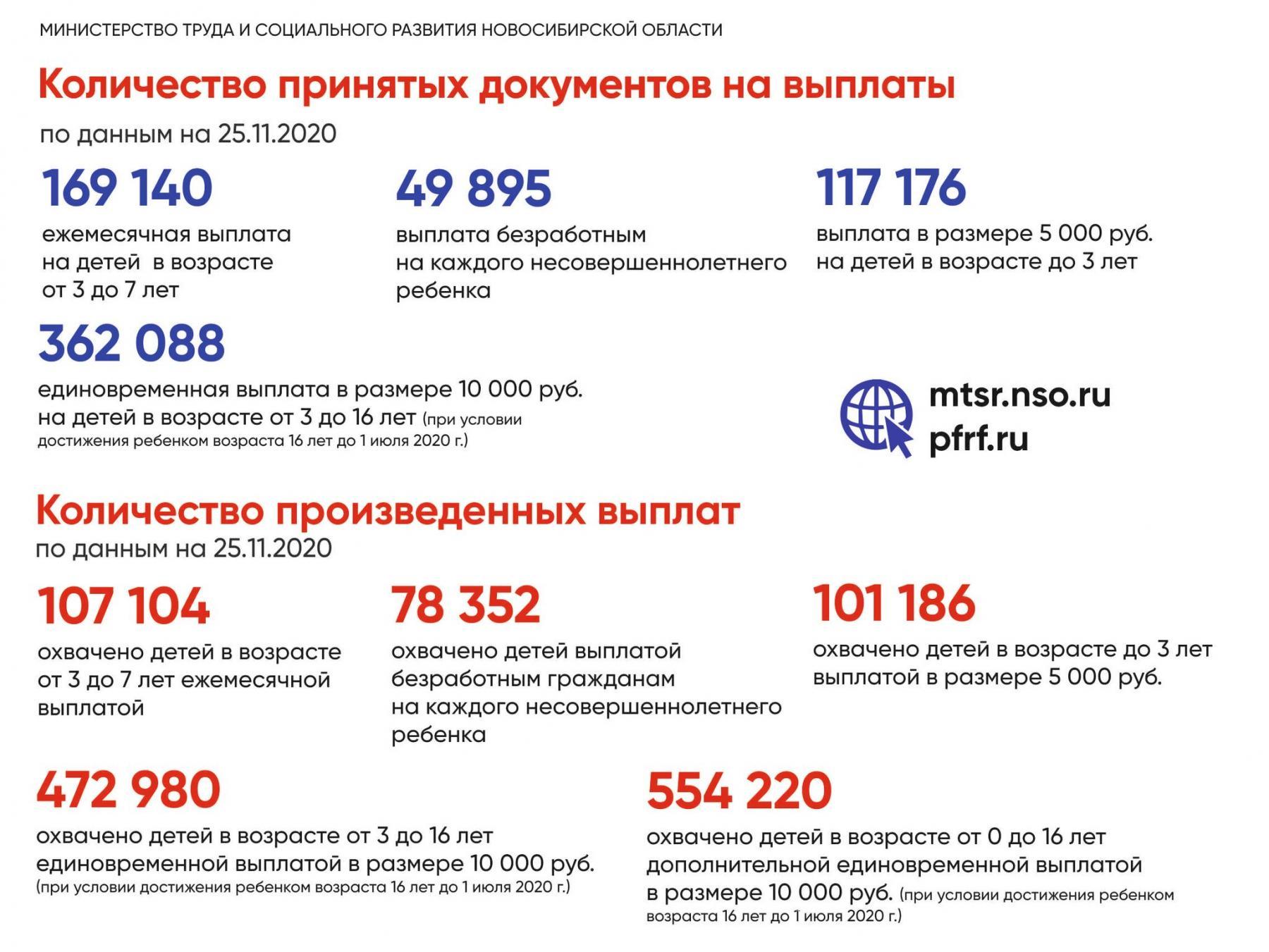 Фото Выплаты и пособия в Новосибирской области: помощь семьям во время пандемии в одной картинке 2