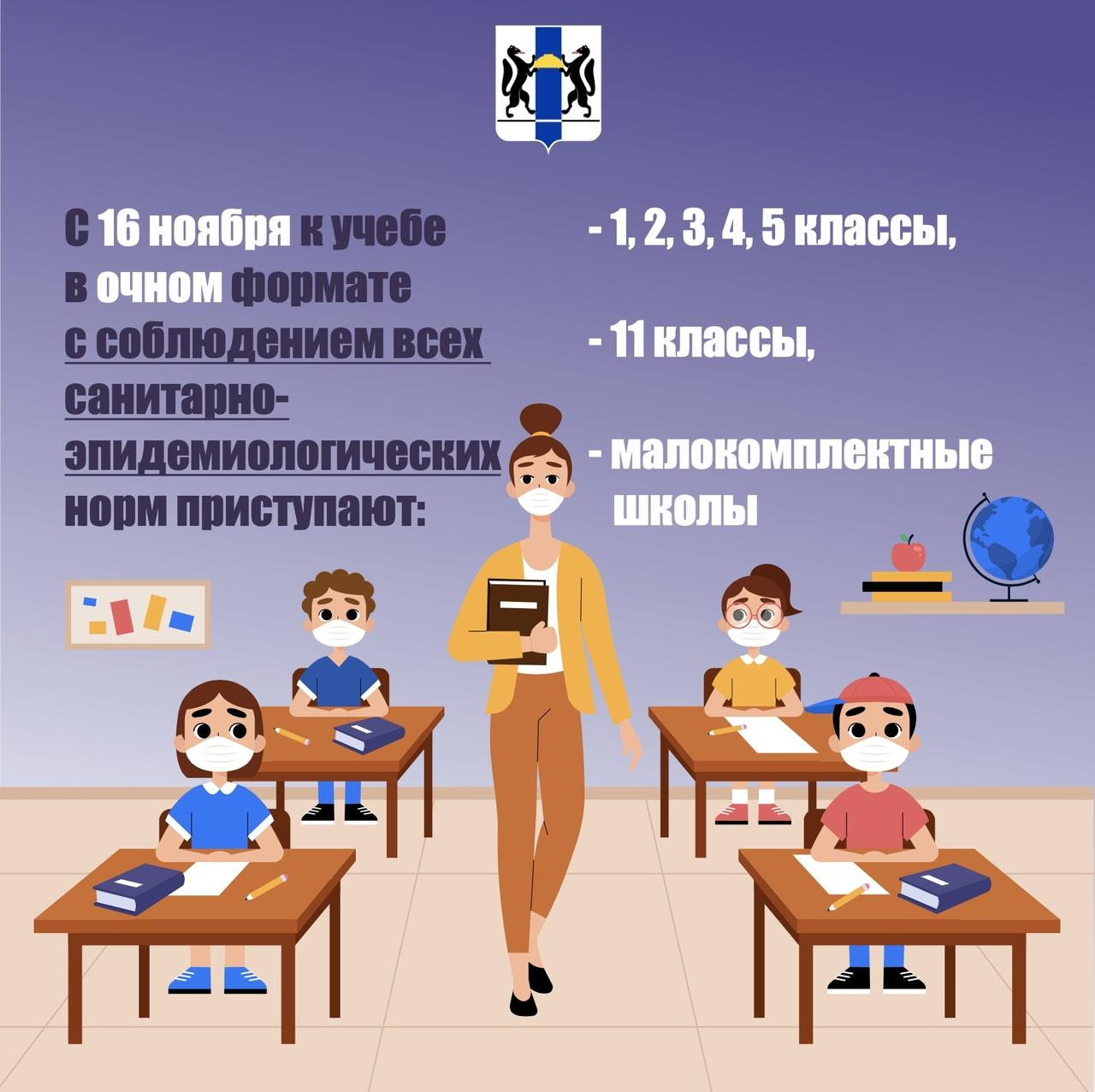 фото Как будут учиться школьники Новосибирска с 16 ноября: показываем в трёх карточках 3