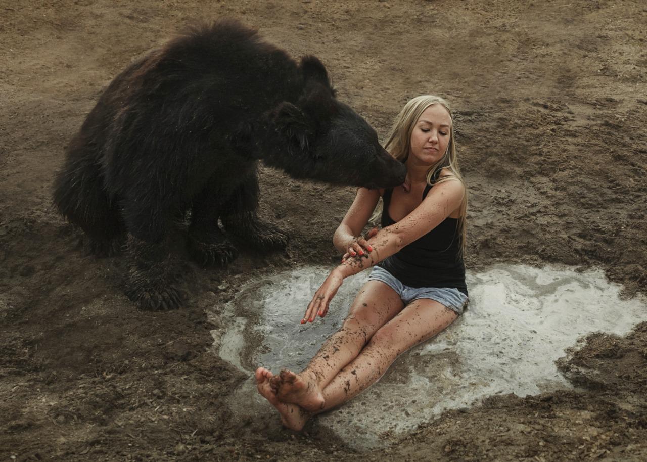 фото Хозяйка замерзающих под Новосибирском цирковых медведей не хочет отдавать их в местный зоопарк 2