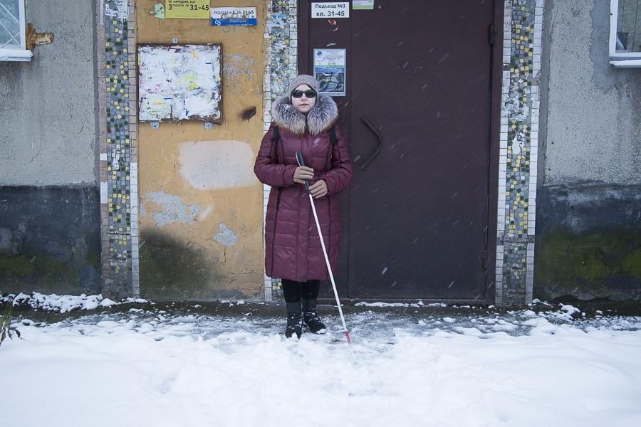 фото «Лучшая помощь – это люди»: как незрячие воюют в Новосибирске с автохамами, кривыми тротуарами и снегом 2