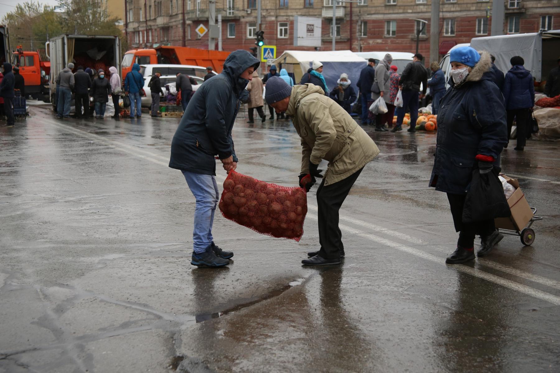 Мешок картошки на плечо: как прошла большая сельхозярмарка на площади Маркса