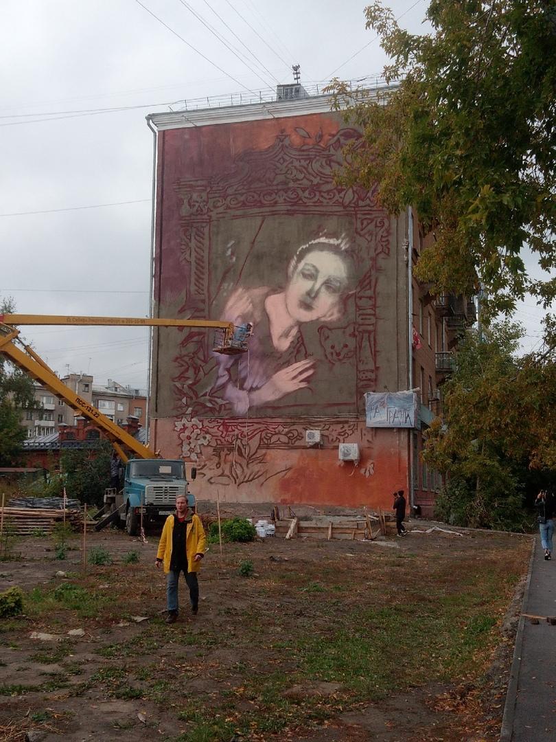 фото Картина «Купеческая дочь» от известной художницы появится на фасаде здания в Новосибирске 2