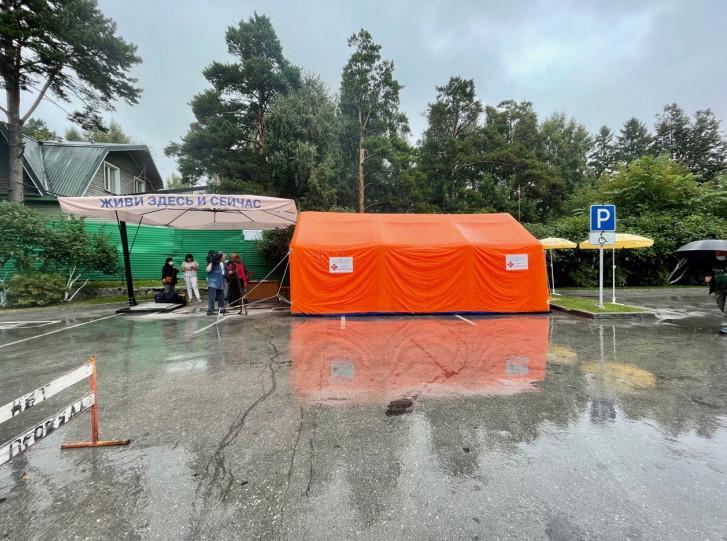 Фото В Новосибирске вернули мобильный пункт вакцинации возле зоопарка 2