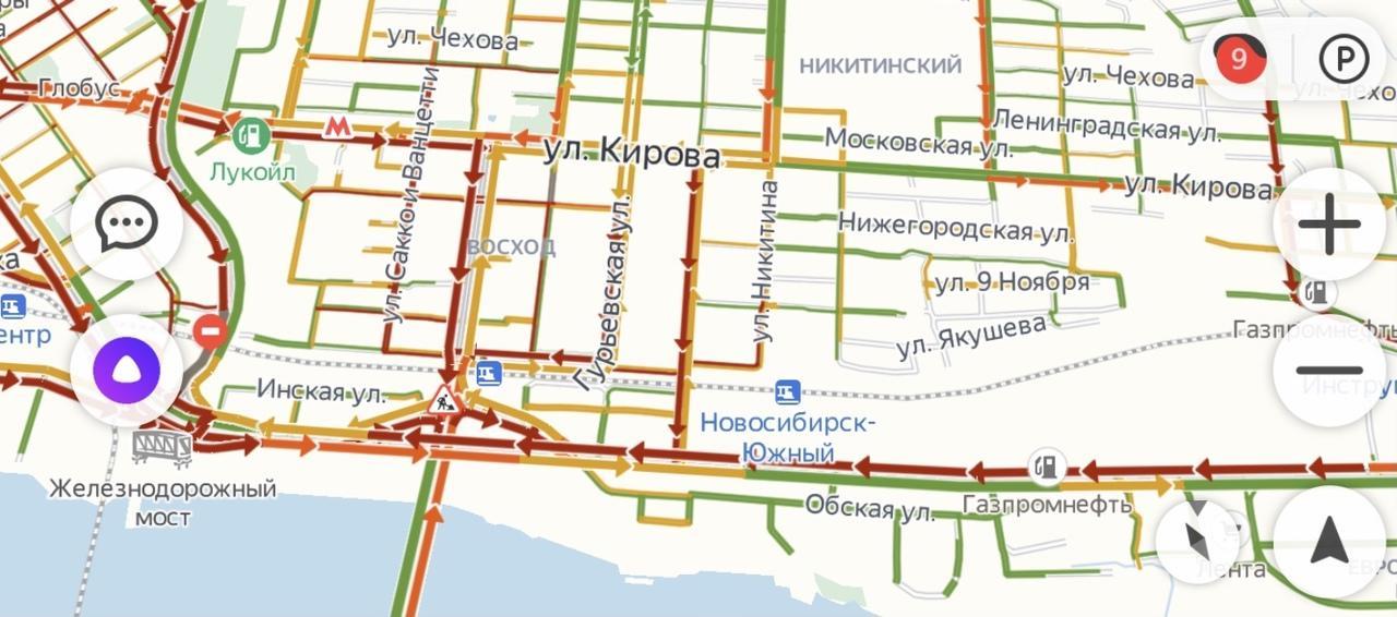 Фото Новосибирск сковали девятибалльные пробки 2